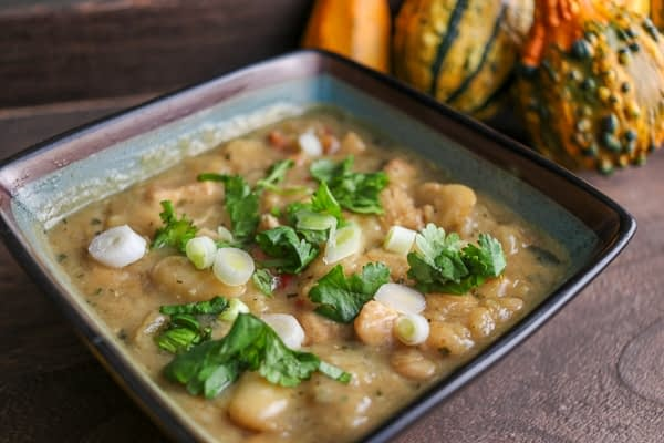 Chicken and White Bean Chili with Anaheim Peppers